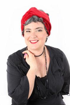 Turban Agathe rubis