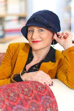 Chapeau Sandrine Bleu marine