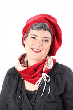Béret Martine rubis