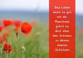 """Karte """"Mohn Leben"""""""