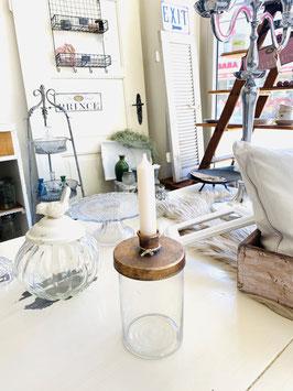 Kerzenhalter mit Glasbehälter——-Art.Nr. WEI073