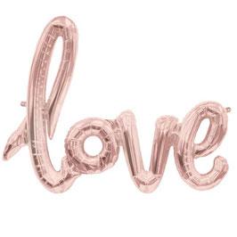 Ballon mylar Love rose doré