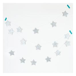 Guirlande étoiles glitter argentées