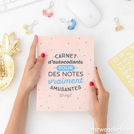 CARNET D'AUTOCOLLANTS POUR DES NOTES VRAIMENT AMUSANTES