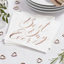 Serviettes mariage Best Day Ever