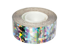 Sparkly silver foil tape
