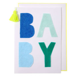"Carte félicitations naissance ""Baby Blue"""