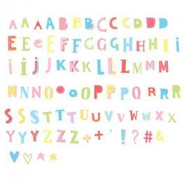 Set de lettres pour lightbox : Funky colour