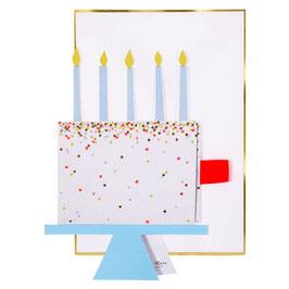 Carte anniversaire gâteau