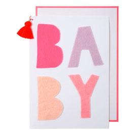 "Carte félicitations naissance ""Baby pink"""