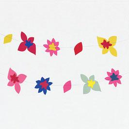Guirlande en papier - Fleurs tropicales