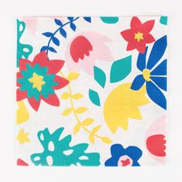 20 serviettes - Fleurs tropicales