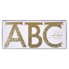 Guirlande lettres dorées en carton Meri Meri