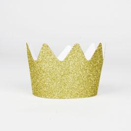 8 couronnes glitter - Doré
