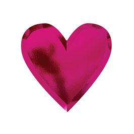 8 assiettes carton coeur