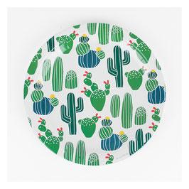 8 assiettes cactus
