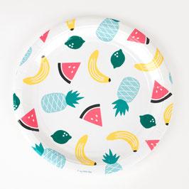 8 assiettes - Fruits
