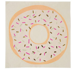 16 serviettes donuts