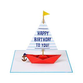 Carte anniversaire bateau