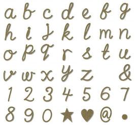 Lettre,chiffre ou symbole dorés pour guirlande Meri Meri