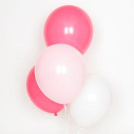 Trio de ballons de baudruche roses