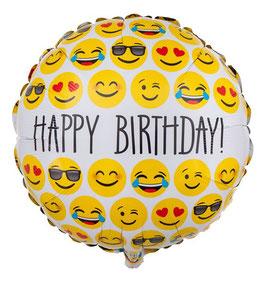 "Ballon smiley ""happy birthday"""