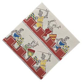 20 Serviettes en papier chevalier