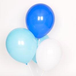 Trio ballons de baudruche bleus