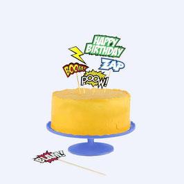 Décorations pour gâteau 'Comic'