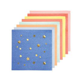 16 petites serviettes Etoiles