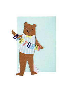 Carte anniversaire ours
