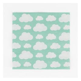 20 serviettes - nuages