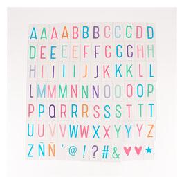 Set de lettres pour lightbox : Pastelles
