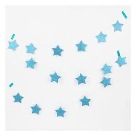 Guirlande étoiles glitter bleues
