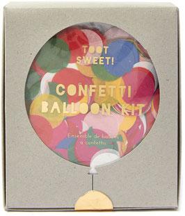 8 gros ballons confettis