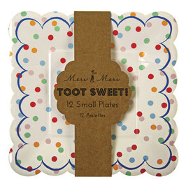 12 assiettes pois toot sweet