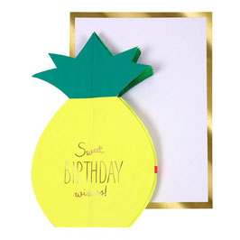 Carte anniversaire ananas
