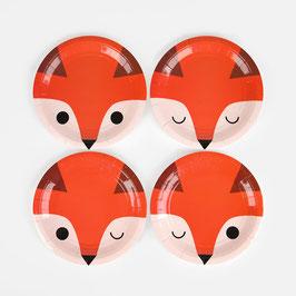 8 assiettes - mini renard