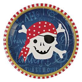 8 petites assiettes Pirate