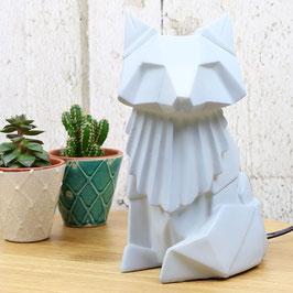 Lampe de chevet - origami - Renard - Gris