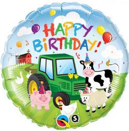 Ballon Happy Birthday Ferme