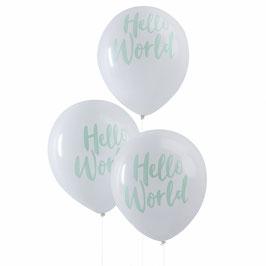 10 ballons de baudruche Hello World