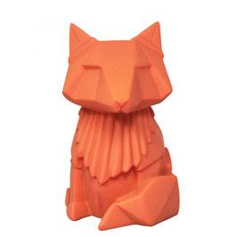 Veilleuse - MINI - origami - Renard - orange