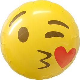"Ballon smiley ""bisou"""
