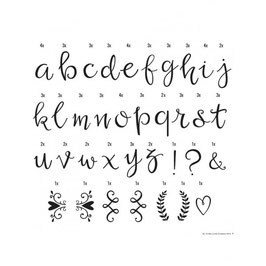 Set de lettres pour lightbox : Script