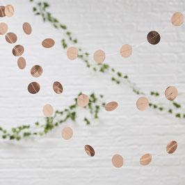Guirlande pastilles roses gold