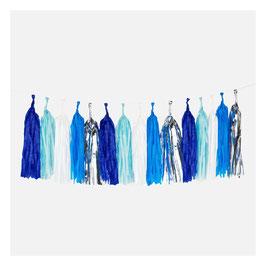 Kit de guirlande tassel bleue