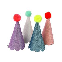 Chapeaux d'anniversaire Pompons
