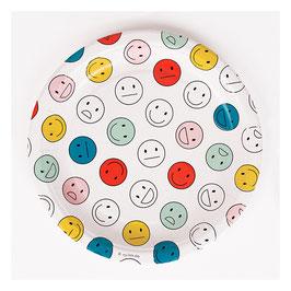 8 assiettes Happy Faces