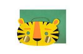 Carte anniversaire masque tigre